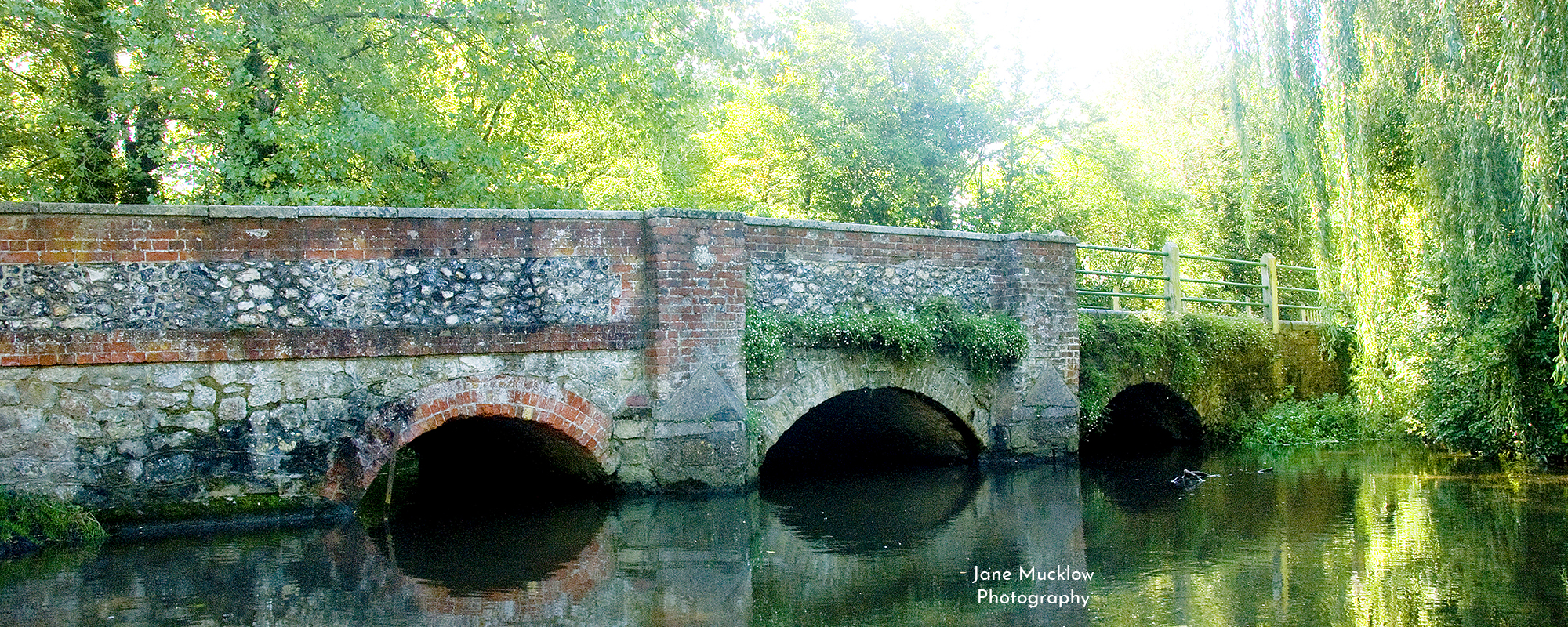Photo by Jane Mucklow of the bridge at Shoreham, Kent, available as a canvas for your wall.
