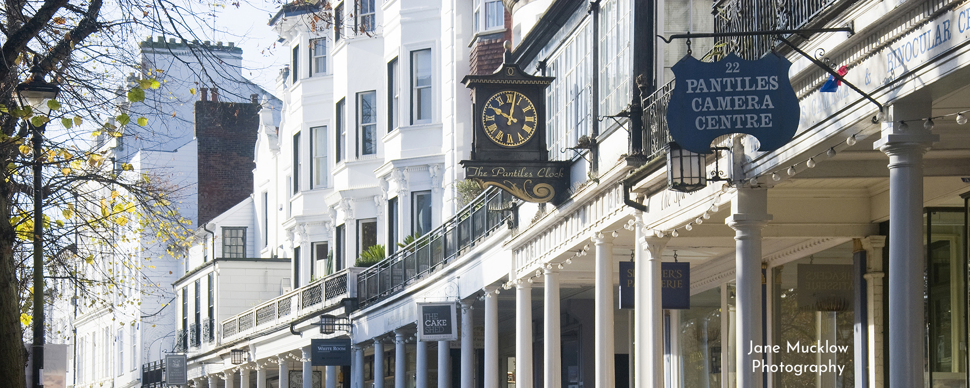 Photo by Jane Mucklow of the Pantiles in Tunbridge Wells, available as a print for your wall