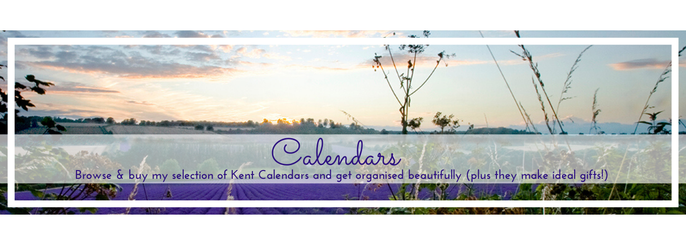 Photo by Jane Mucklow of a lavender farm sunset, calendar page button