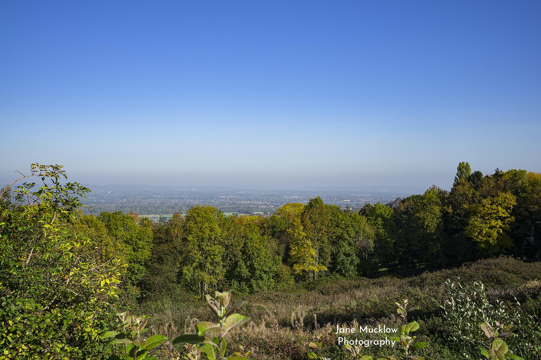 Photo by Jane Mucklow of an Autumn view across Tonbridge from Bidborough Ridge