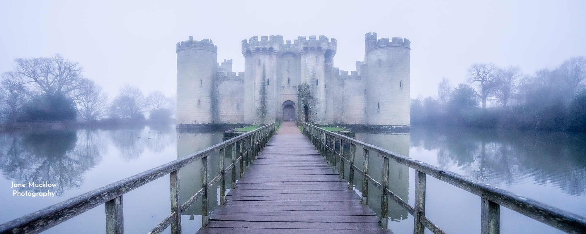 Photo of Bodium Castle in the mist by Jane Mucklow