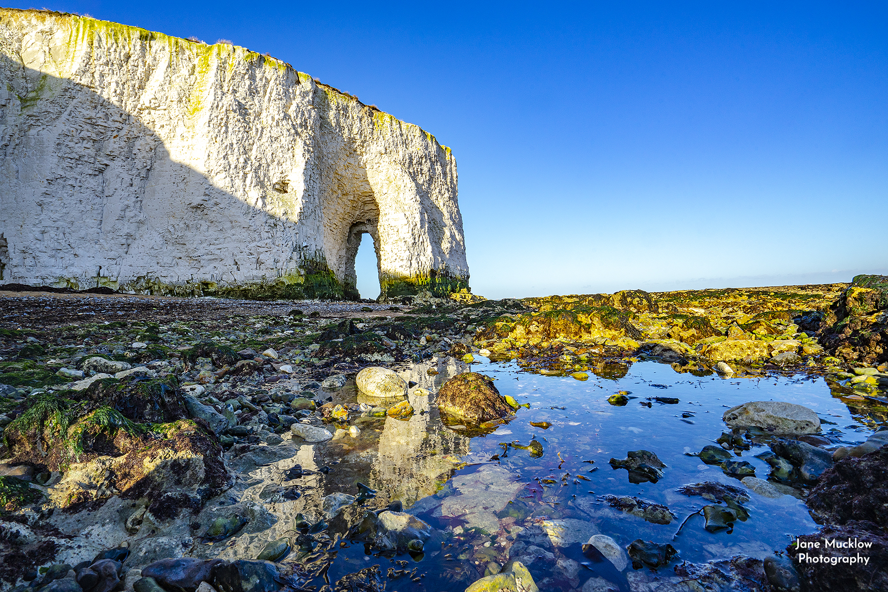 Photo of chalk archway at Botany Bay Kent by Jane Mucklow