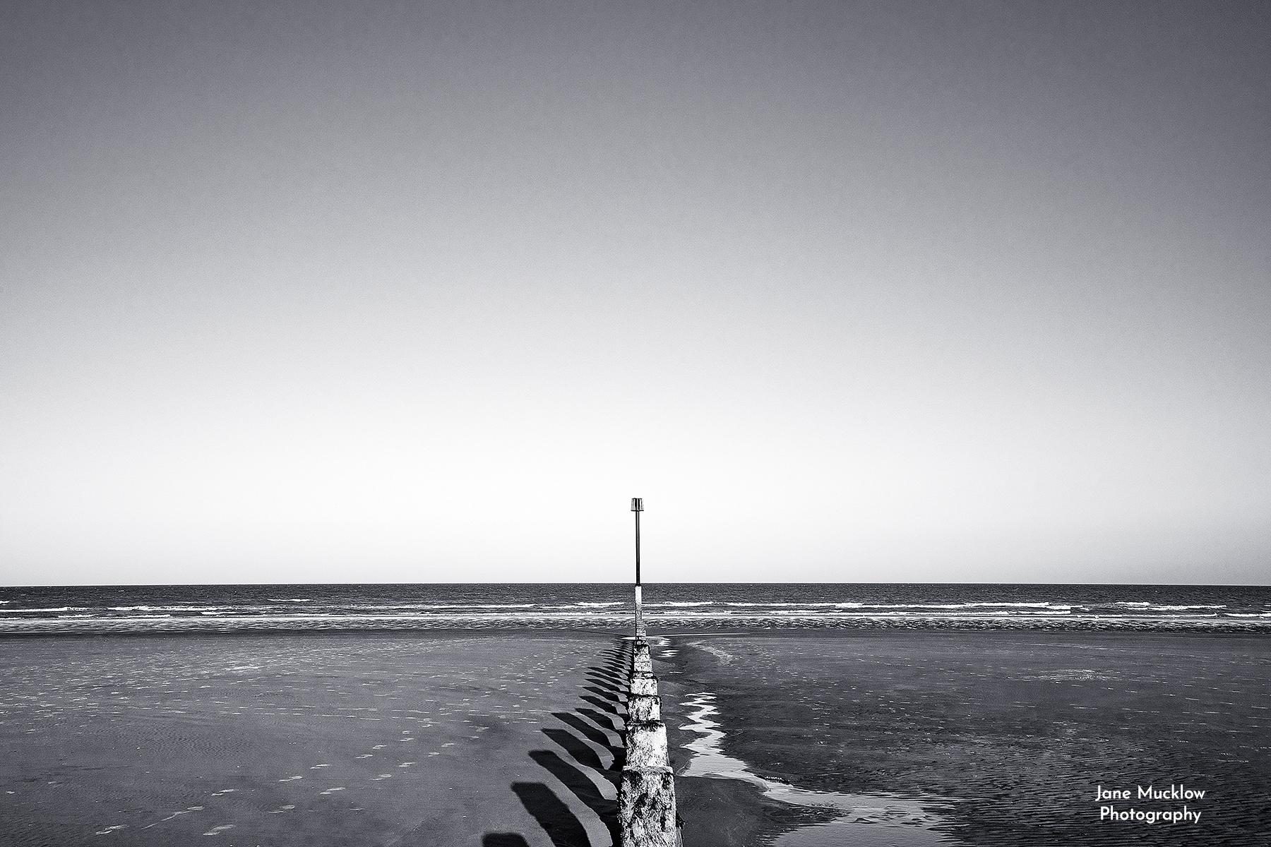 Photo of beach groyne at Dymchurch Kent by Jane Mucklow