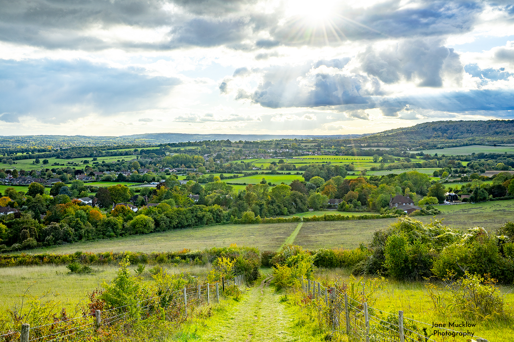 Photo of the Autumn view over Otford from the Mount by Jane Mucklow