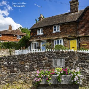 Photo of Well Cottage and flowers, Kemsing, by Jane Mucklow