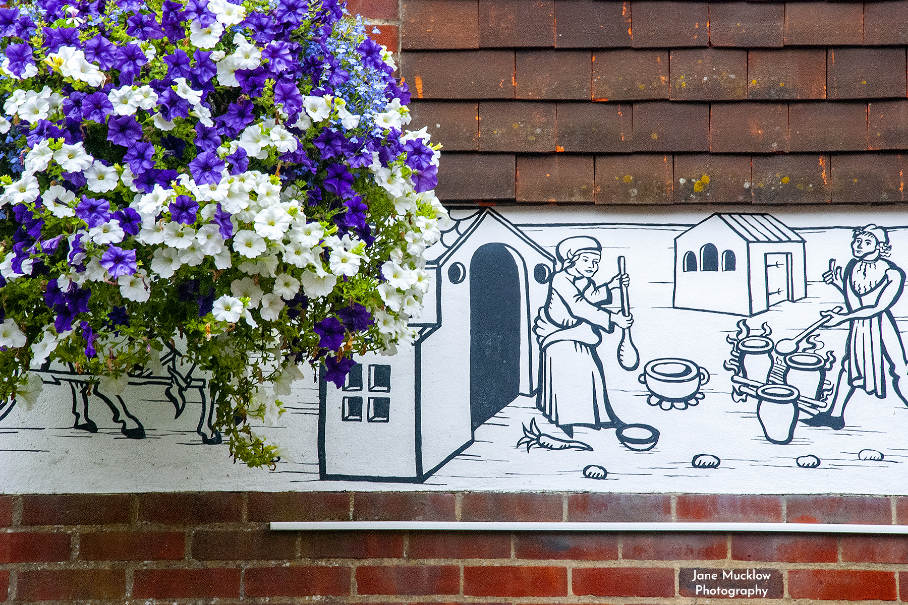 Photo of a flower basket in the Shambles, Sevenoaks, by Jane Mucklow