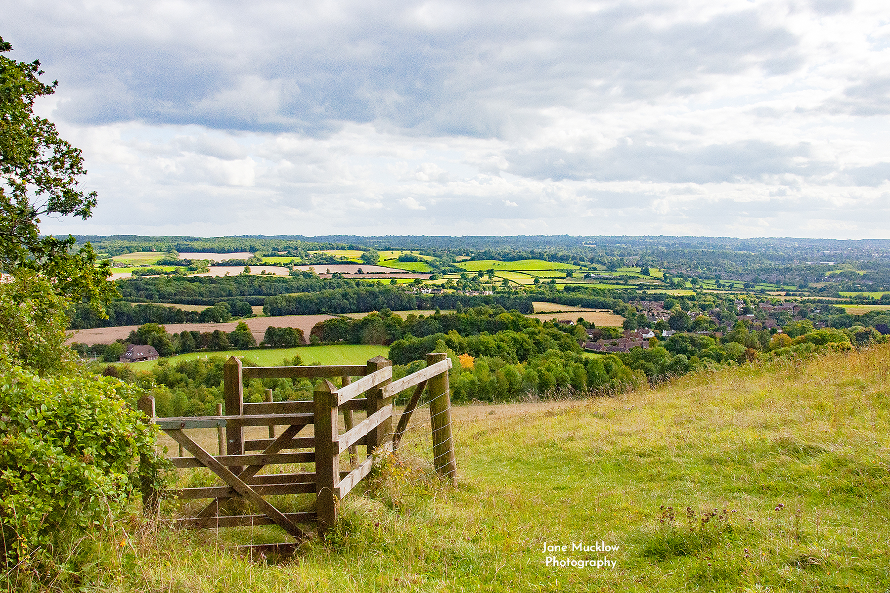 Photo of the view to Sevenoaks from Kemsing Downs, by Jane Mucklow