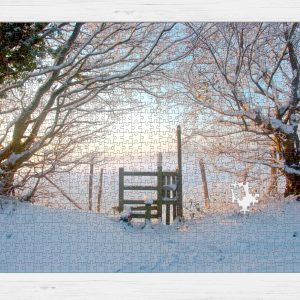 Jigsaw puzzle image of photo of the snowy style at sunrise by Jane Mucklow Photography