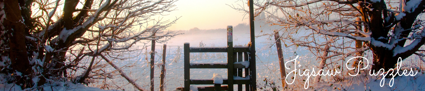 Jane Mucklow Photography jigsaw page title image, photo of snowy style at sunrise